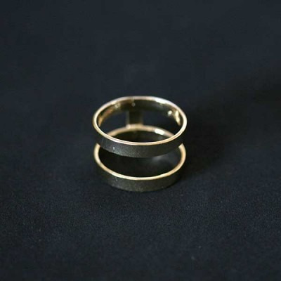 anel semi jóia folheado a ouro