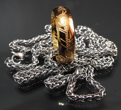 anel senhor dos anéis 3d tung ouro gravação interna /externa