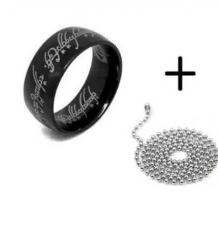 anel senhor dos anéis 6mm mais corrente grátis.