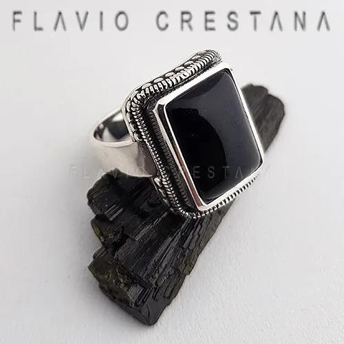 anel serie lúcifer quartzo negro prata 925 fp 11061201