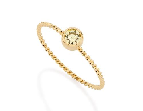 anel skinny fio torcido folheado ouro rommanel 512091