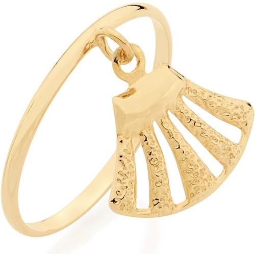 anel skinny ring berloque concha ouro rommanel 512161