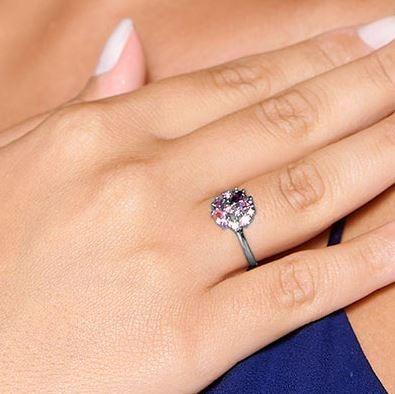anel skinny ring diversos tipos de zirconias rommanel 410009