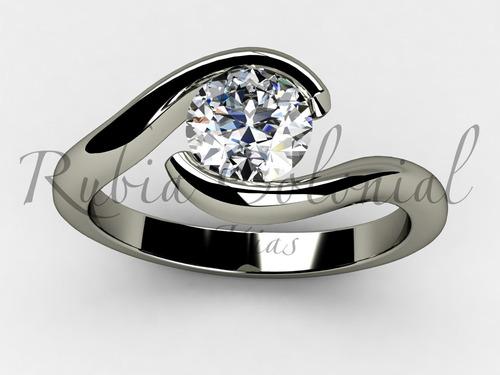 anel solitário anel