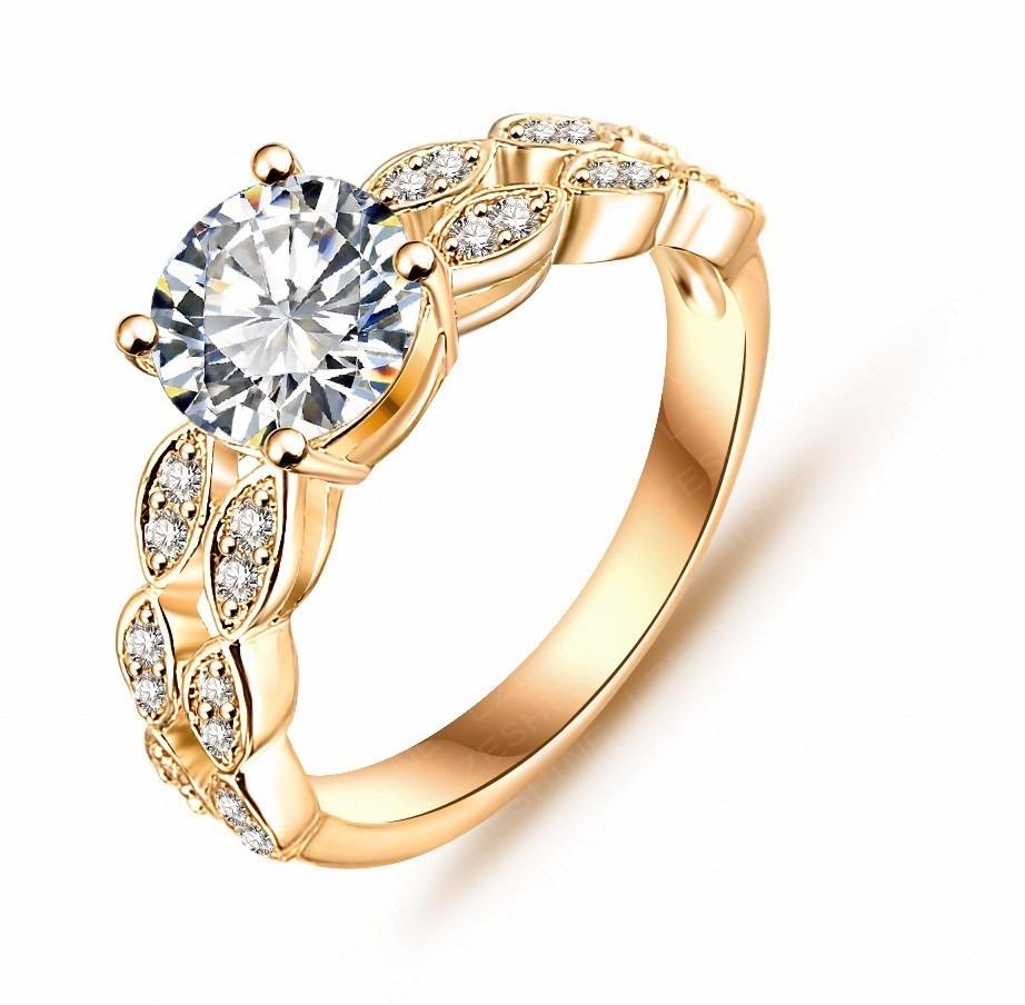 d2726532166f8 anel solitário bronze banhado prata 925 e ouro 18k cravejado. Carregando  zoom.