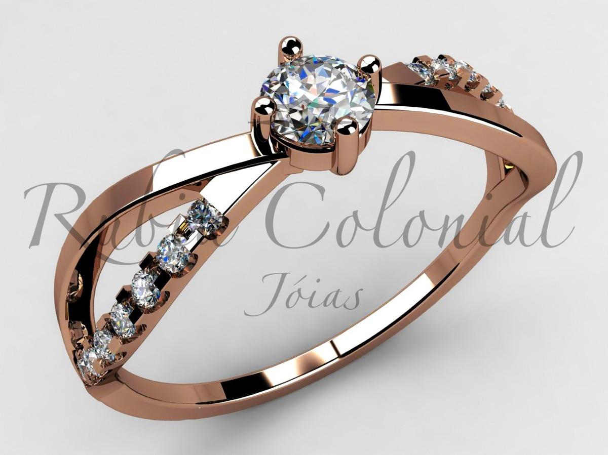 anel solitário de 24 pontos. ouro18k! diamantes - noivado. Carregando zoom. 5f7e700c3a