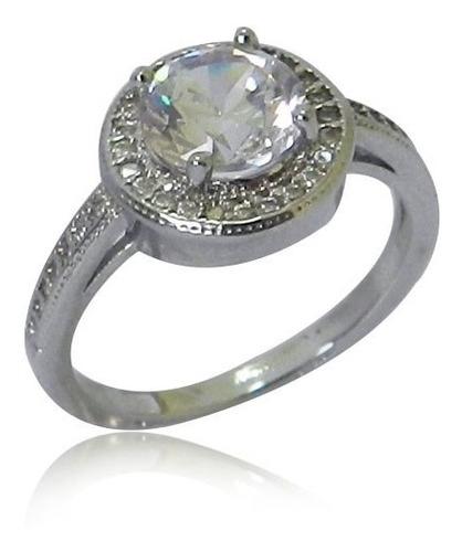 anel solitario de diamantes pedra central: 1 quilate.