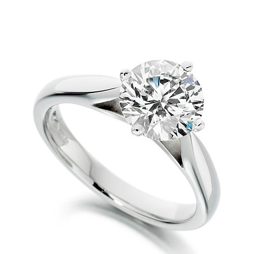 anel solitário diamante 35 pontos