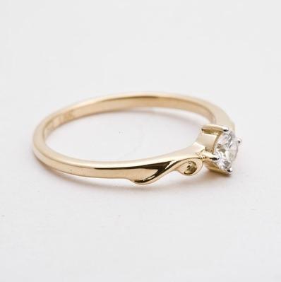 2ca84171e596d Anel Solitário Em Ouro 18 K Mais Diamante 20 Pontos - R  1.825,95 em ...