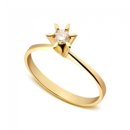2e25f4a0334e5 Anel Solitário Em Ouro 18k Com Diamante - Als005 - R  1.014,00 em Mercado  Livre