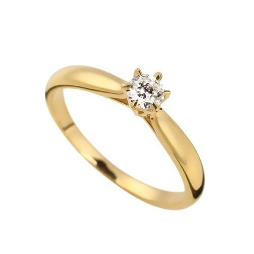 1bcb047c1c498 Anel Solitário Em Ouro 18k Com Diamantes - Als004 - R  924,66 em Mercado  Livre