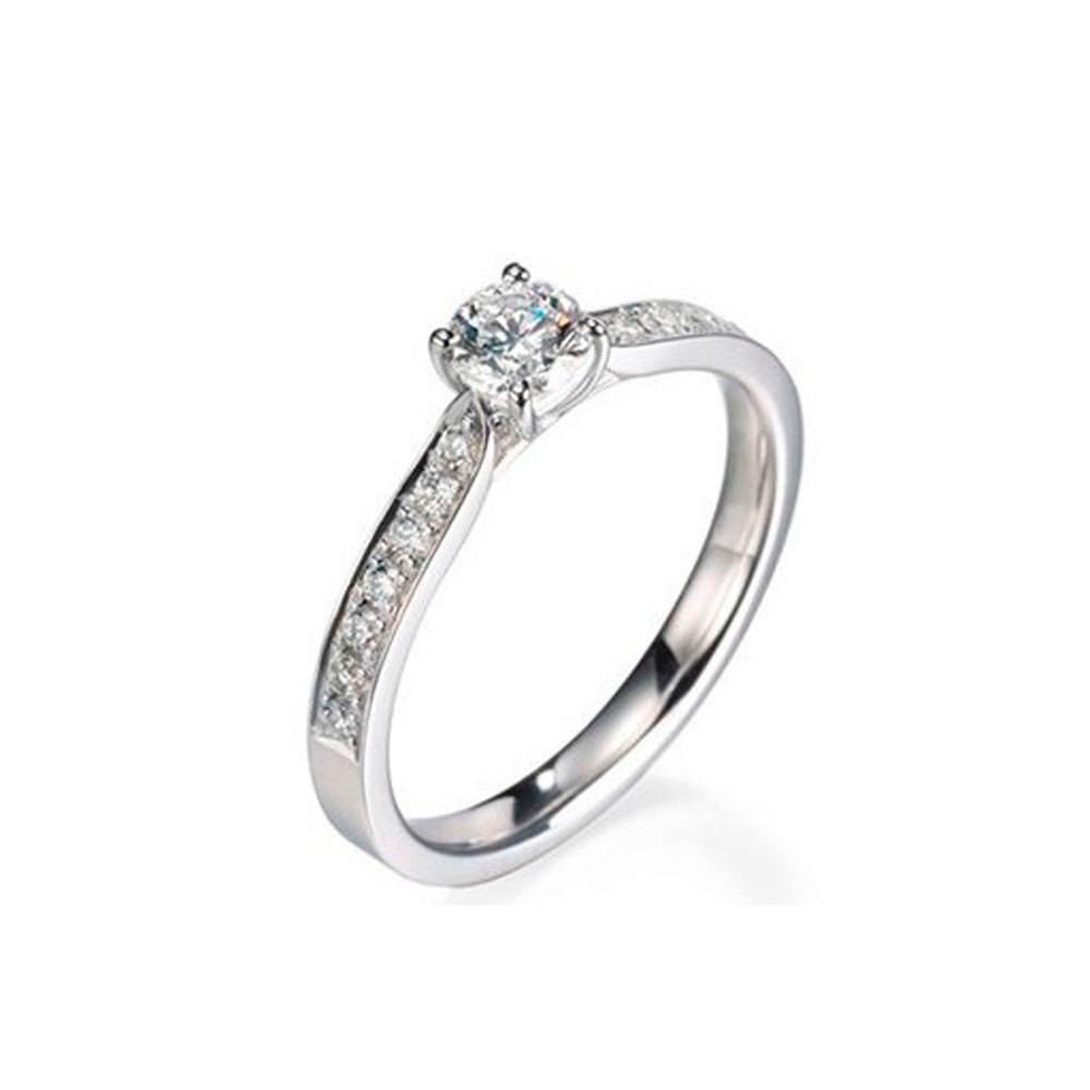 0b944938e54fd anel solitário em ouro 18k diamante 20 pontos - perseu jóias. Carregando  zoom.