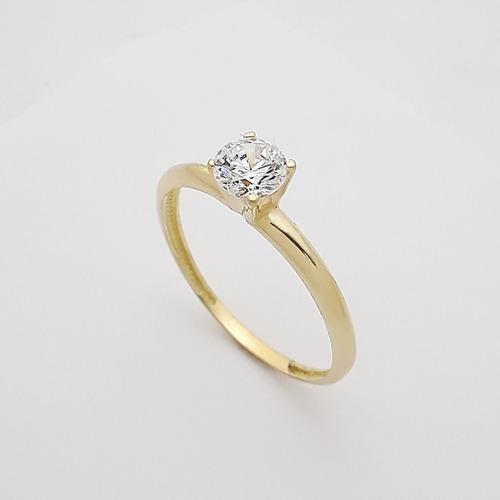anel  solitário em ouro 18k feminino