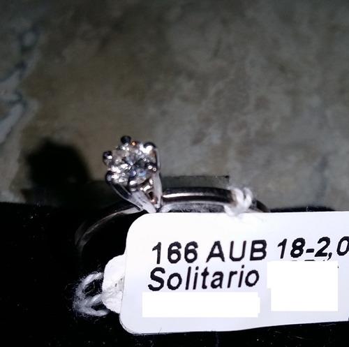 anel solitário em ouro branco 18k e brilhante
