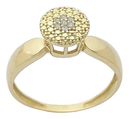 anel solitário feminino 18k 750 feminino .