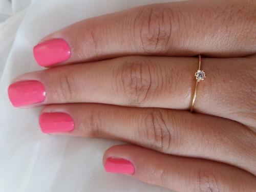 anel solitário feminino