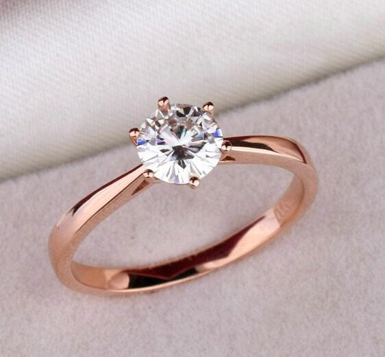 602f9780a79993 Anel Solitário Feminino Banhado Ouro Rose 18k Ou Prata 925 - R$ 39 ...