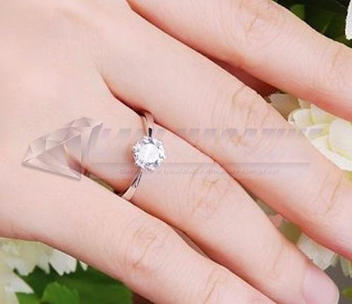 anel solitário feminino compromisso noivado banho prata 925