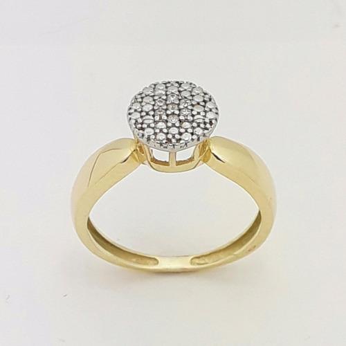 anel solitário feminino compromisso ouro 18k