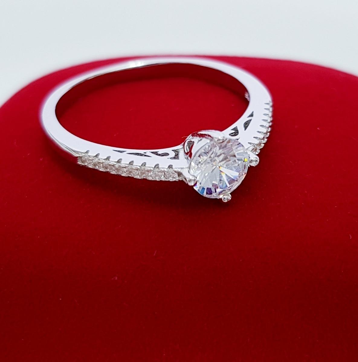 5af216e1c2b7d anel solitário feminino delicado zirconia prata pura 925. Carregando zoom.