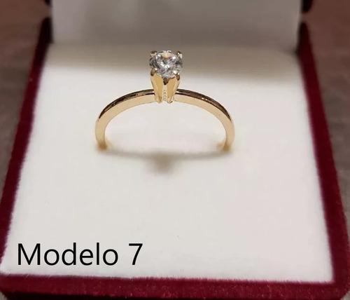 anel solitário feminino joia ouro