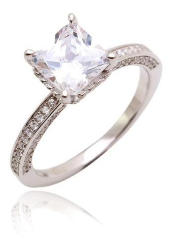 anel solitário feminino namorado (prata 925)