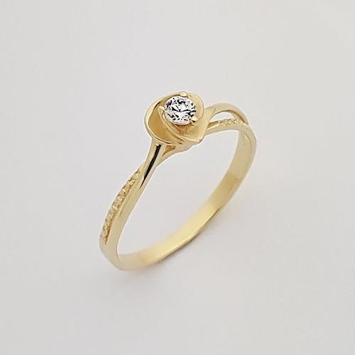 anel solitário feminino ouro