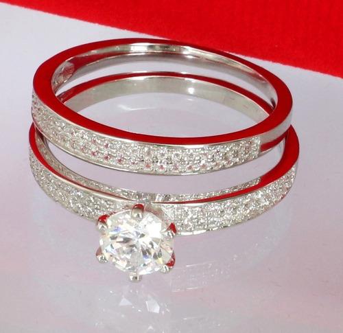 anel solitario feminino prata