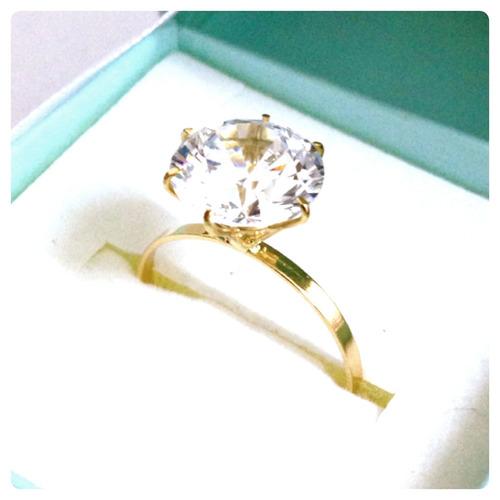 anel solitário joia ouro