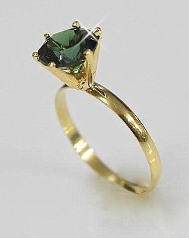 anel solitario maciço ouro 18k 750 7mm escolha a cor