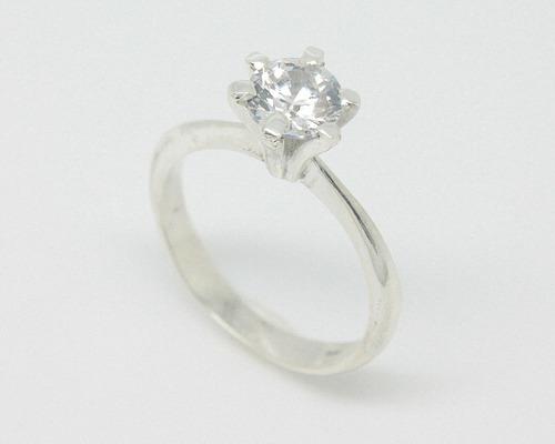 anel solitario maciço prata 950 7mm escolha a cor