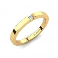 anel solitário ouro 18k com diamante 05pts mod. cj1351