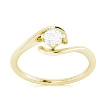 anel solitário ouro 18k com diamante mod. cj1288