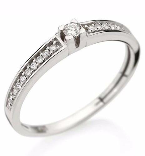 anel solitário ouro 18k com diamantes mod. cj1204