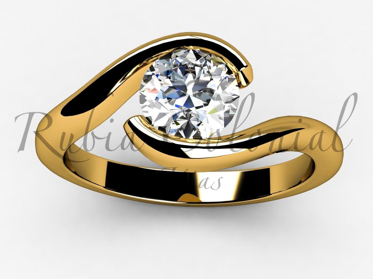 02667166951b4 anel solitário ouro 18k diamante 20 pontos. 15 anos. Carregando zoom.