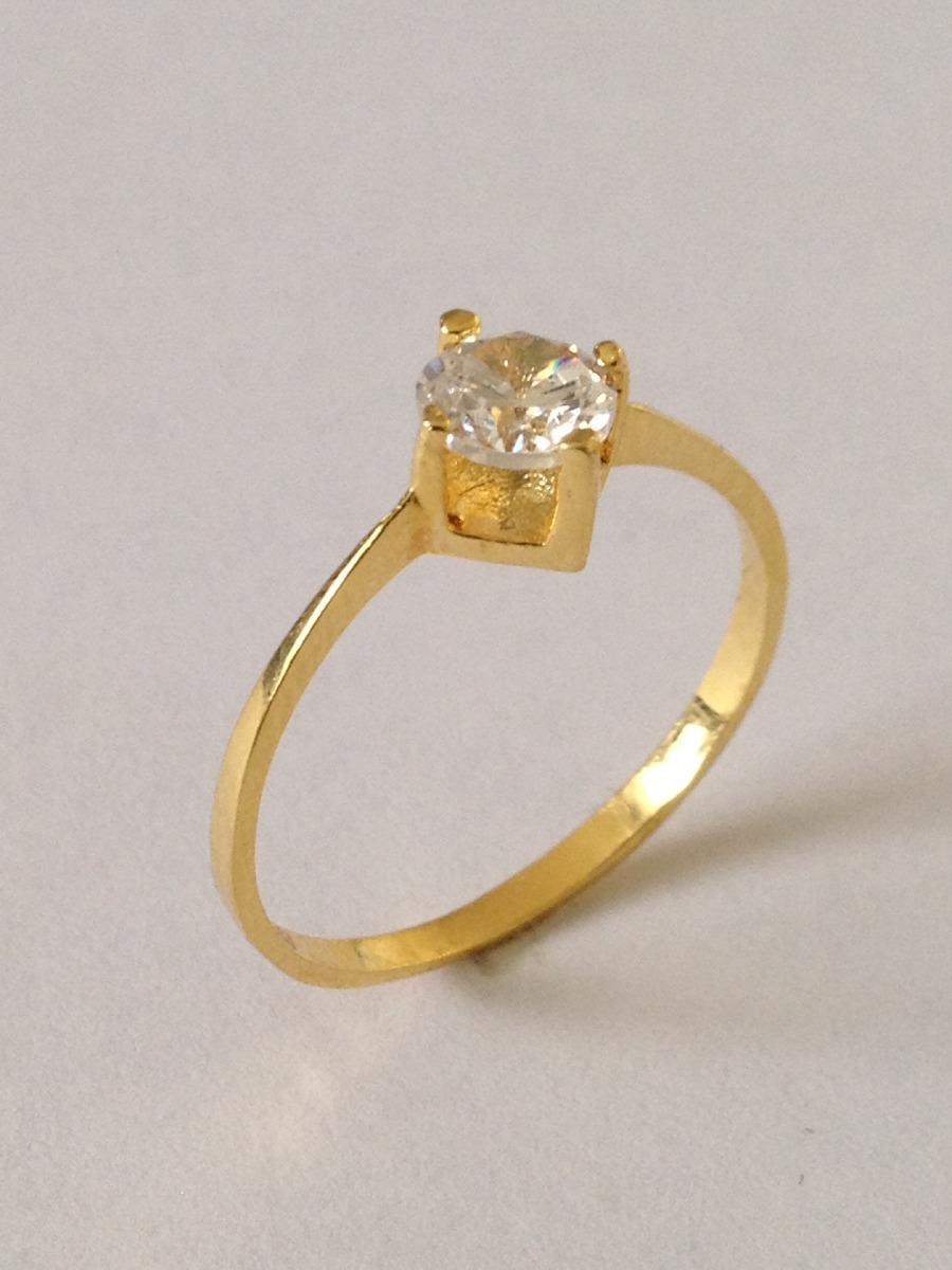 91f6b801e77fc anel solitário ouro 18k zirconia de 5,00 mm 03-105 (r). Carregando zoom.