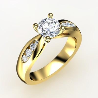 88e920951ba57 Anel Solitário Com Diamante De 30 Pt Em Diamantes E Ouro 18k - R ...