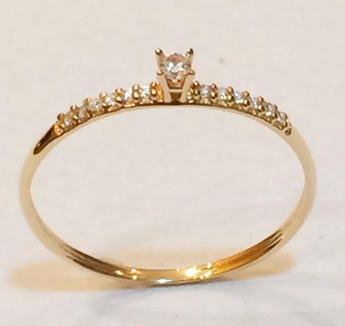 anel solitario ouro