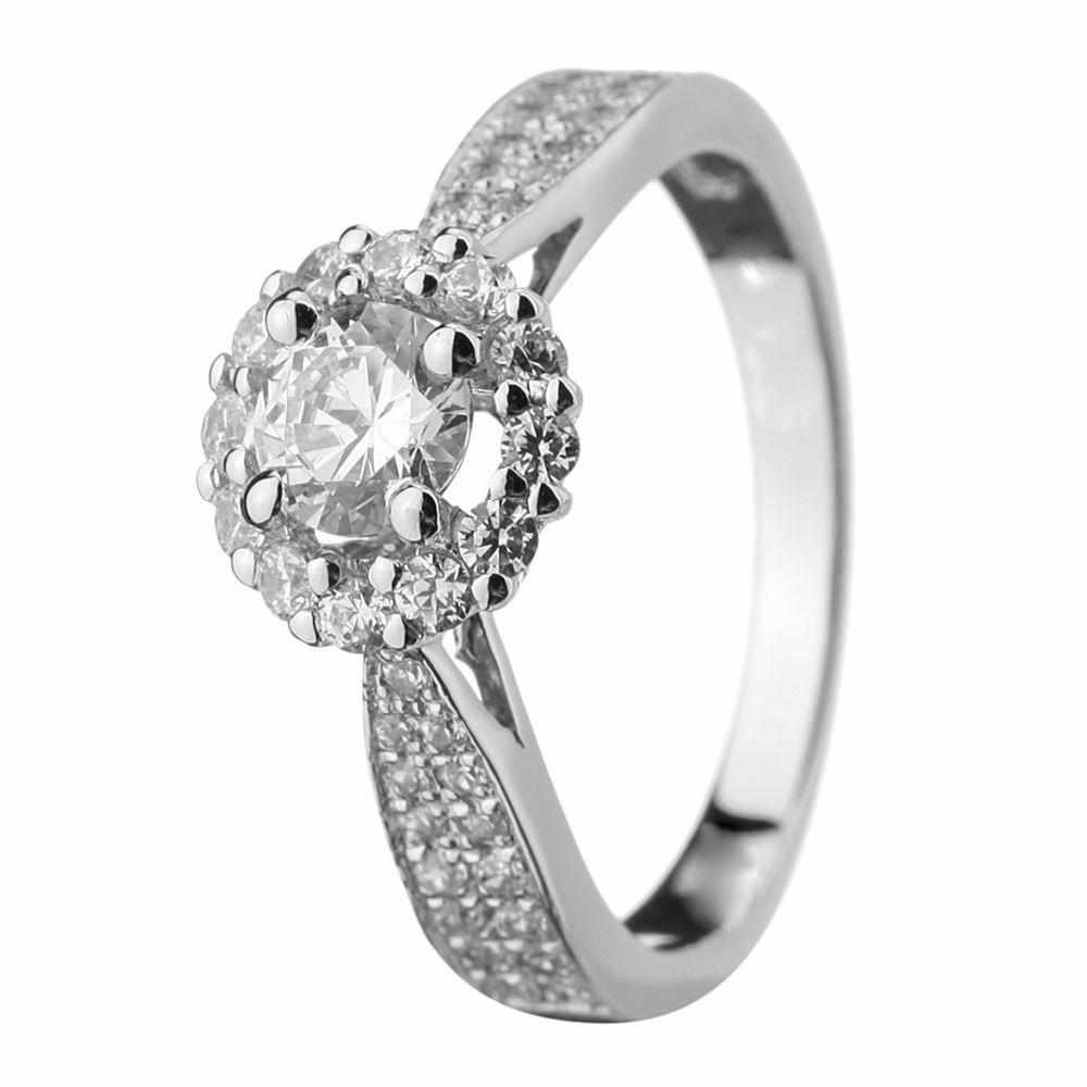 8da07a801066b anel solitário ouro branco 18k com diamantes mod. cj1201. Carregando zoom.