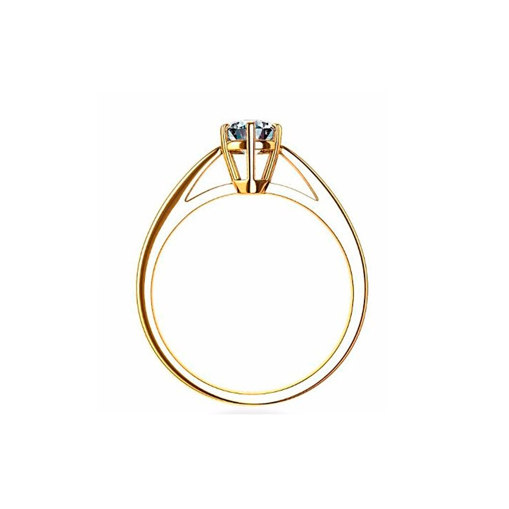 71809b588c473 Anel Solitário Em Ouro 18k Diamante 15 Pontos - Perseu Jóias - R ...