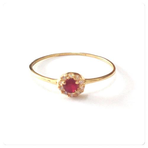 anel  solitário ouro maciço 18k  750
