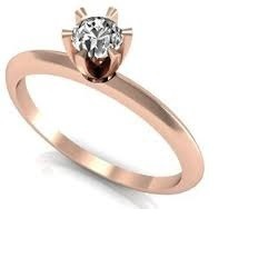 5767d1dab6e81 Anel Solitário Ouro Rose 18k Com Diamante - Als14 - R  1.274,00 em ...