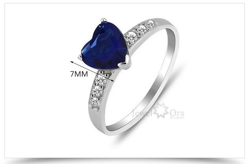 2e5a2932a6f Anel Solitário Banhad Em Prata 925 Zircônia Tipo Safira Azul - R  29 ...