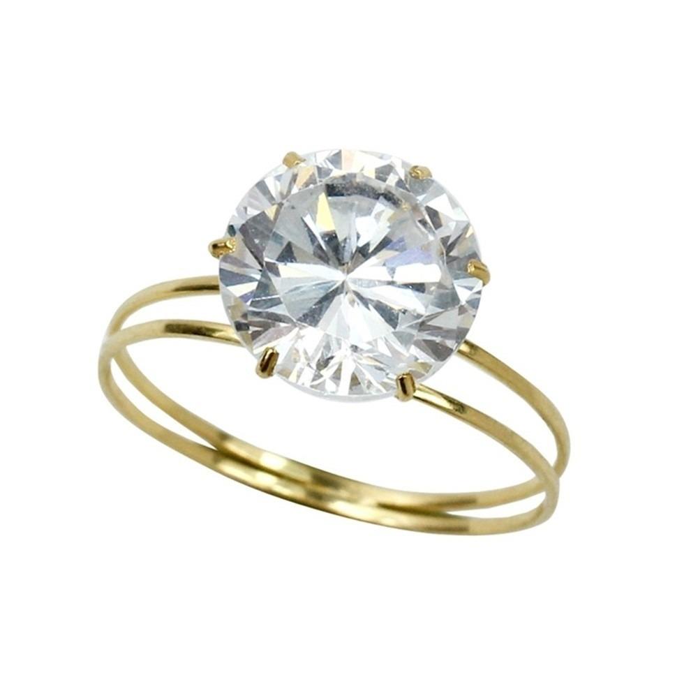 57e825350d9cc anel solitário zircônia branca feminino ouro amarelo 18k 750. Carregando  zoom.