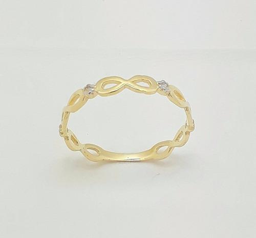 anel solitário18k 750 feminino debutante delicado 15 anos 42