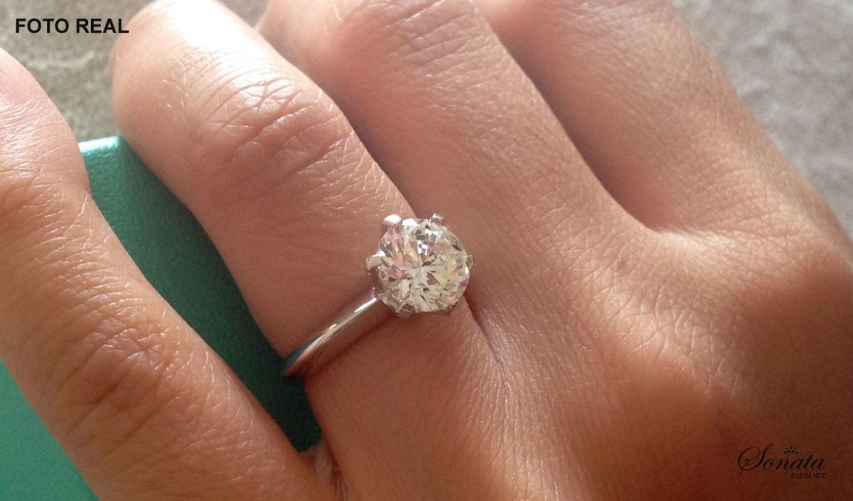 4f03f62da98b7 anel sonate modelo noivado tiffany diamante solitário 1.5ct. Carregando  zoom.