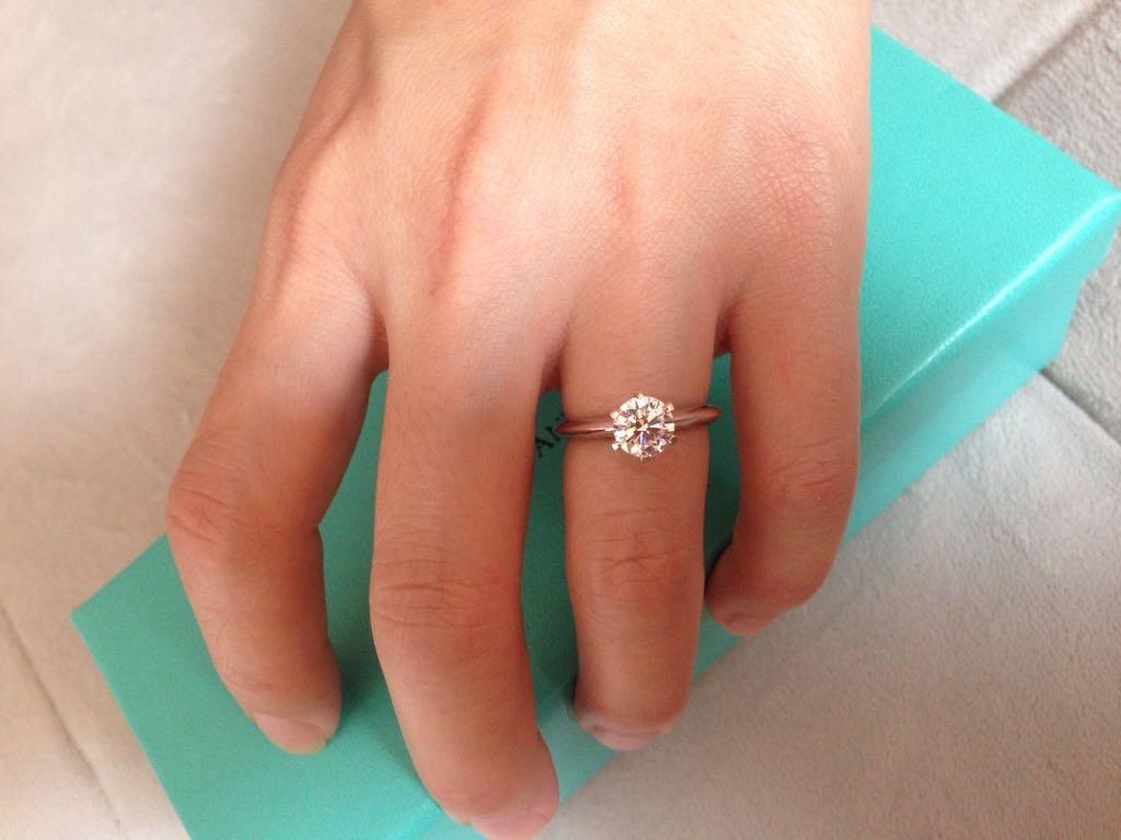 f0cd6063da7f4 anel sonate modelo noivado tiffany diamante solitário 1ct. Carregando zoom.