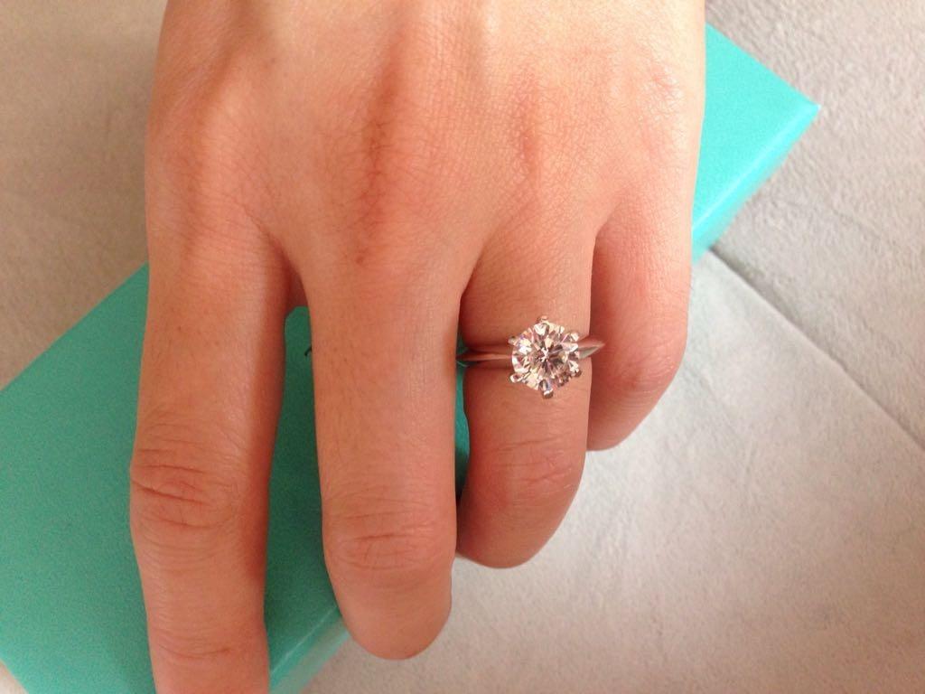 b97333bc5407d anel sonate modelo noivado tiffany diamante solitário 2ct. Carregando zoom.