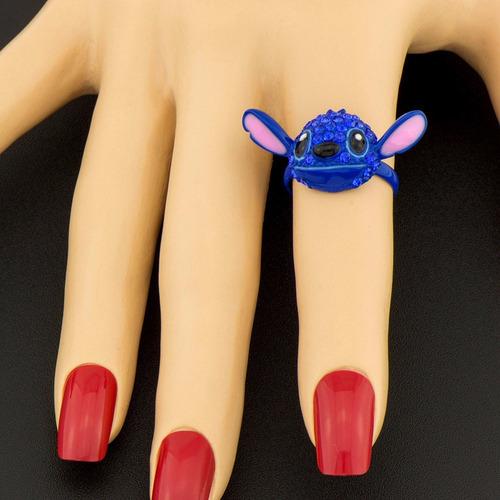 anel stitch com strass