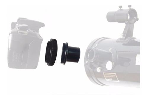 anel t2 canon eos + adaptador tubo para telescópios 1.25 ef